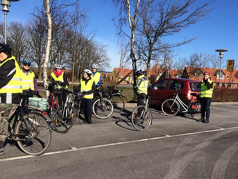 21. marts 2018. Cykelgruppe Nexø på tur - med start ved Netto i Nexø.
