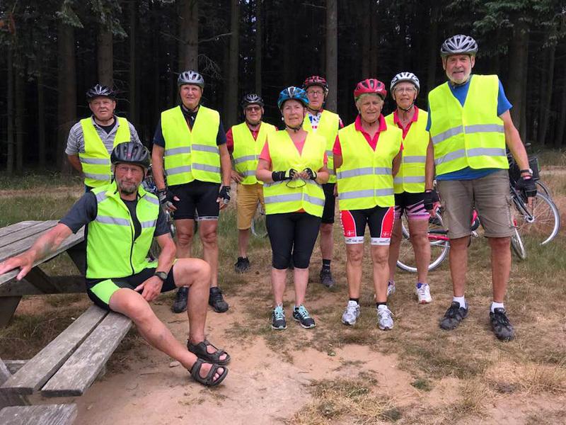 13. juni 2018. Cykelgruppe Nexø på tur.