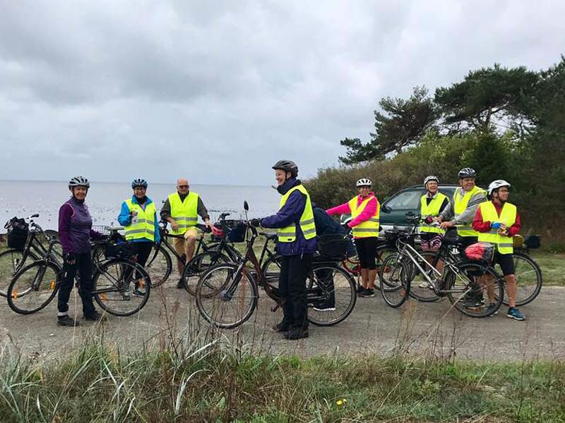 12. september 2018. Cykelgruppe Nexø på tur.