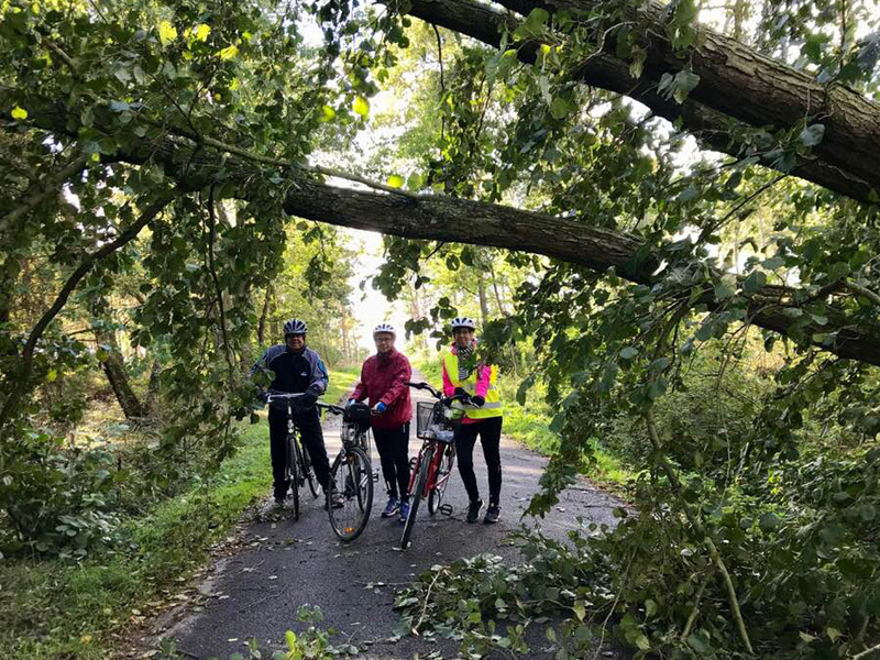 3.oktober 2018. Cykelgruppe Nexø på tur.