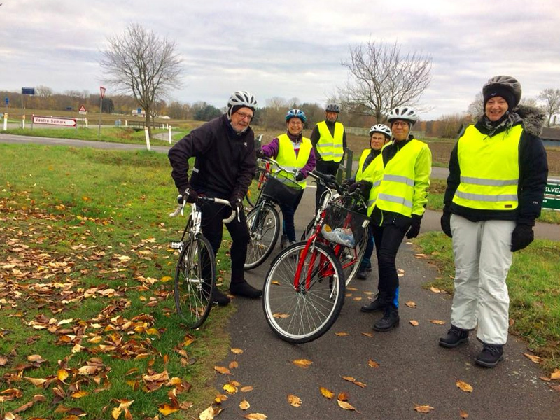 14. november 2018. Cykelgruppe Nexø på tur.