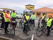 2. oktober 2019. Cykelgruppe Nexø gør klar til start ved Netto i Nexø.
