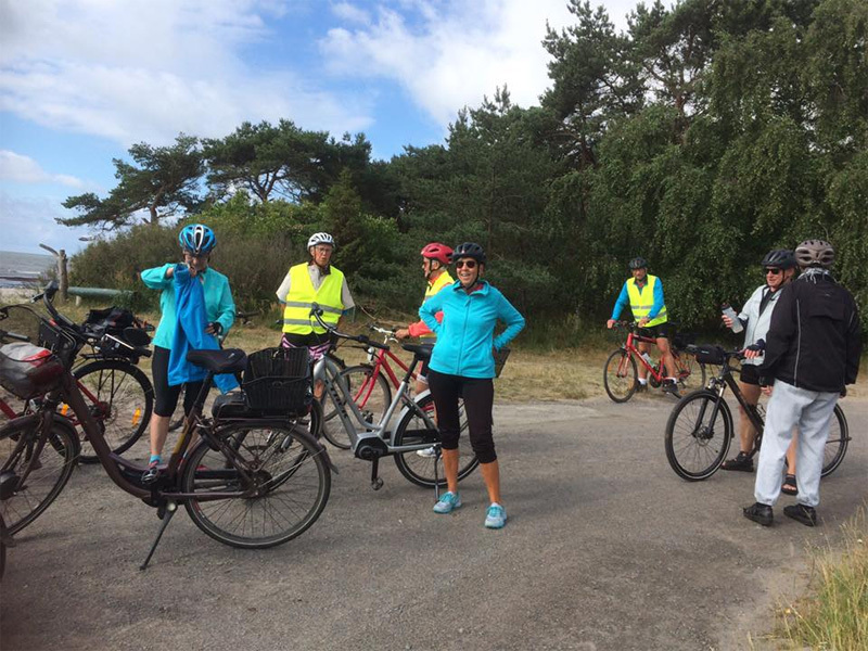 1. juli 2020. Cykelgruppe Nexø på tur.