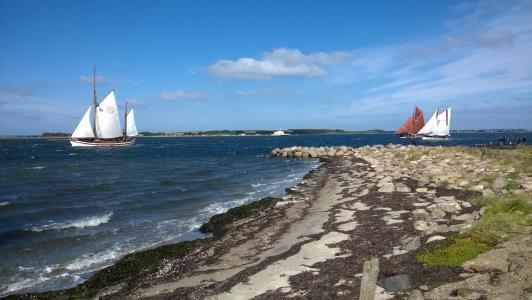 2015: Feggesund med sejlskibe på vej mod Struer
