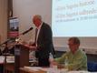 Formanden for Ældre Sagen Bornholm, Birger Rasmussen, berettede om (corona)året, som var gået.  (Foto: Jens Aagesen).